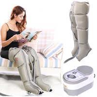 Elektryczna kompresja powietrza masażer do nóg nogi okłady kostki stóp łydki maszyna do masażu promuje krążenie krwi łagodzi ból zmęczenie