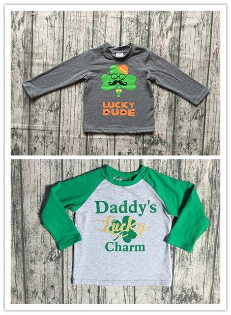 ab4e4cc4b 2 designs in stock baby boys raglan tops St Patrick day raglan lucky raglans  Daddy's lucky charm print top St Patrick raglans