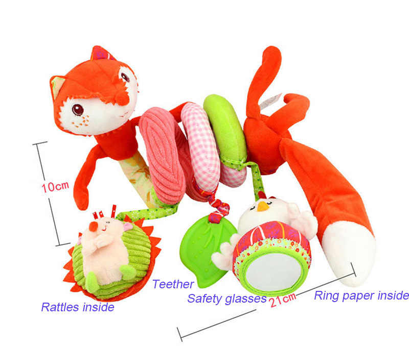 Детская коляска для новорожденных игрушка, прекрасная маленькая белая игрушка лисица детская кровать висячая развивающая детские погремушки