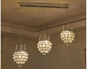 Image 5 - Hanging Lamp for Dining Room Crystal Pendant Light Suspension Cord Modern Pendant Light Fixtures Contemporary Pendant Lights led