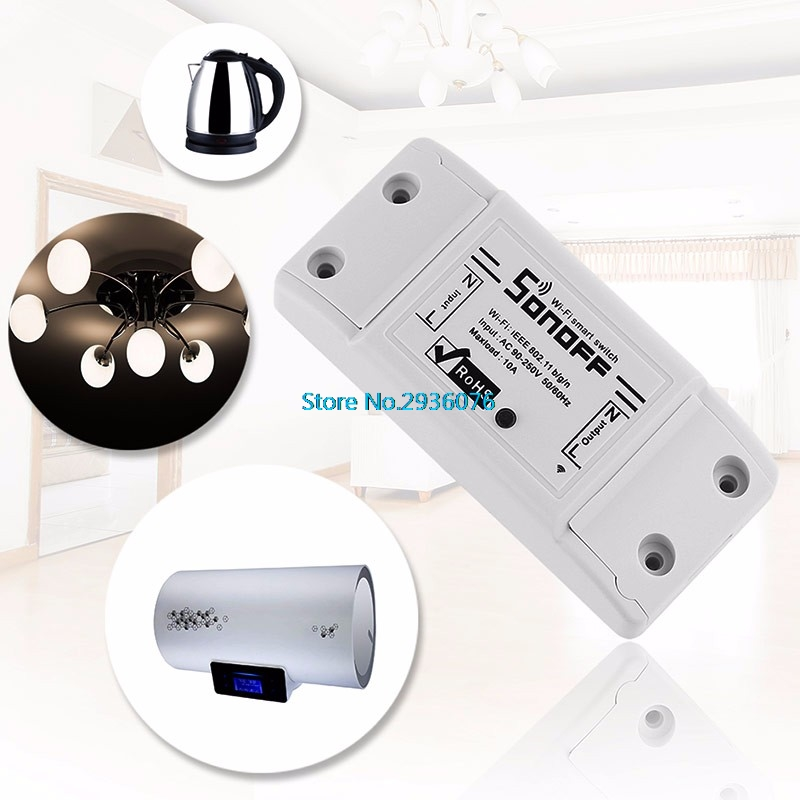 WiFi Wireless Switch Relay Module Smart Home For Apple Android Smartphones 2017 New Motion Sensor smart home z wave wireless switch module two relays