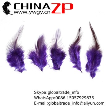Leading Supplier CHINAZP Factory 1000pieces/lot Graceful Dyed Purple Rooster Saddle Plumage Feathers