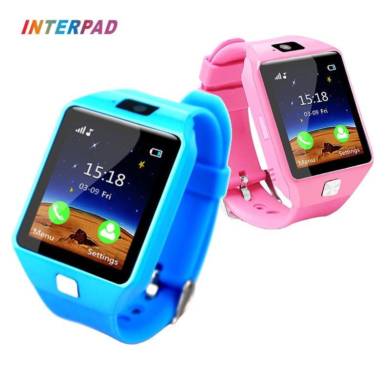 Interpad Montre Smart Watch DZ09 Soutien SIM TF Cartes Pour Android iOS téléphone Enfants Smart Camera Bébé Montre Pour Kid Safe Enfants Cadeau