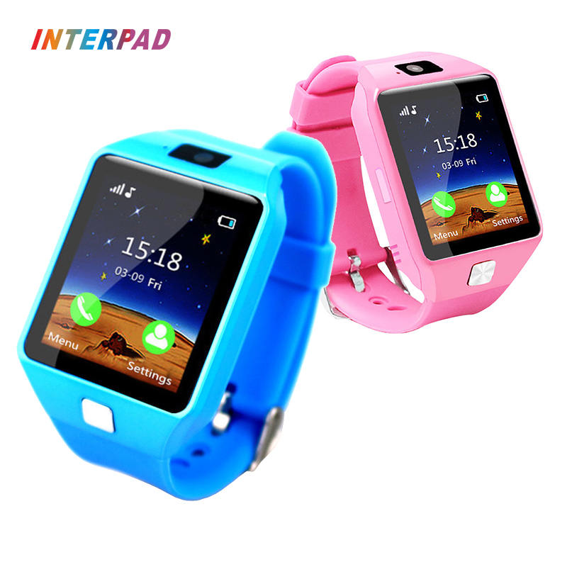 Interpad Smart Watch DZ09 Support SIM TF Cards For Android iOS Phone Children Camera Smart Baby Watch For Kid Safe Children Gift new smart watch children safe monitor gps sports track waterproof android q402 wristwatch kid baby camera support sim 4g network