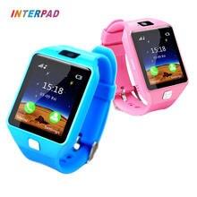 Хорошее Interpad Смарт-часы DZ09 поддержка SIM TF карты для Android IOS Телефон детей камеры Смарт-Детские часы для малыша безопасным подарок для детей