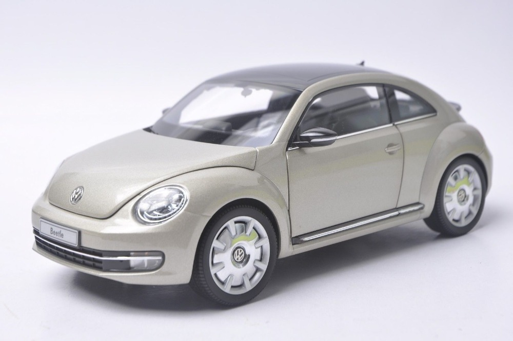 1:18 Diecast Model for Volkswagen VW Beetle Coupe Silver Mini Alloy Toy Car Collection Gifts car usb sd aux adapter digital music changer mp3 converter for volkswagen beetle 2009 2011 fits select oem radios