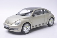 1 18 Diecast Model For Volkswagen VW Beetle Coupe Silver Mini Alloy Toy Car Collection Gifts