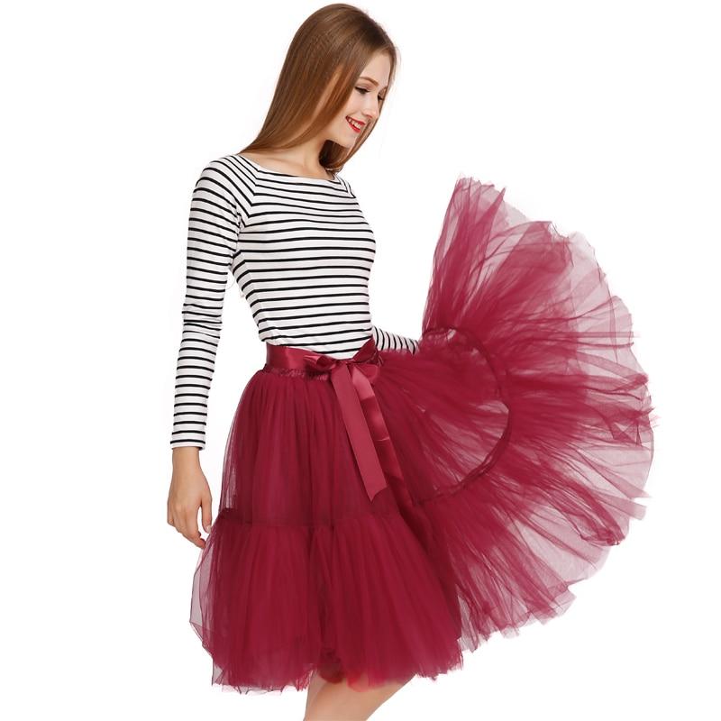 s skirt 5 layers midi tulle skirts womens