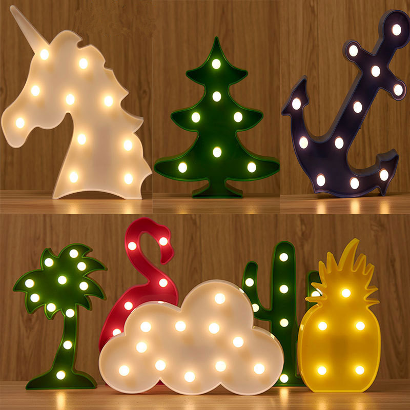 Novelty LED Night Light romantic decorate atmosphere baby children table lamp for Home Christmas holiday light with battery lnhf novelty diy led table lamp home romantic pour coffee usb battery night light