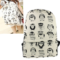 Fashion Owl School Backpack Women Schoolbag Back Pack Ladies Knapsack Laptop Travel Bags For Teenage Girls Wholesale noJE21