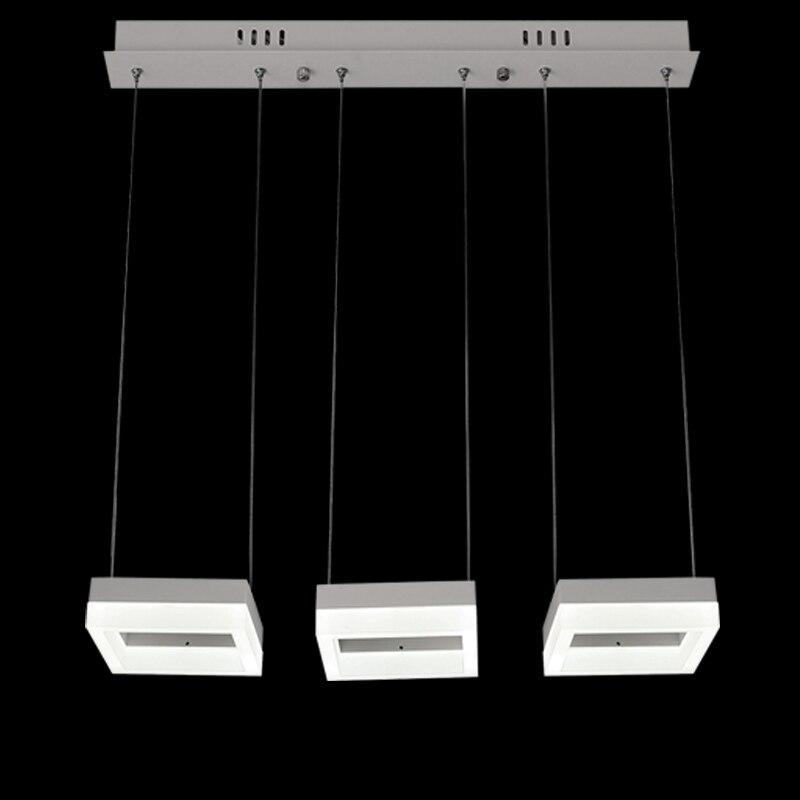 Modern 30W 3 lights Led Acrylic Pendant Lamp Living Room Kitchen Dining Room Decor Home Lighting Indoor Fixture White Metal 220V acrylic led pendant lights for dining room living room modern lampara colgante modern home lighting fixture led pendant lamp