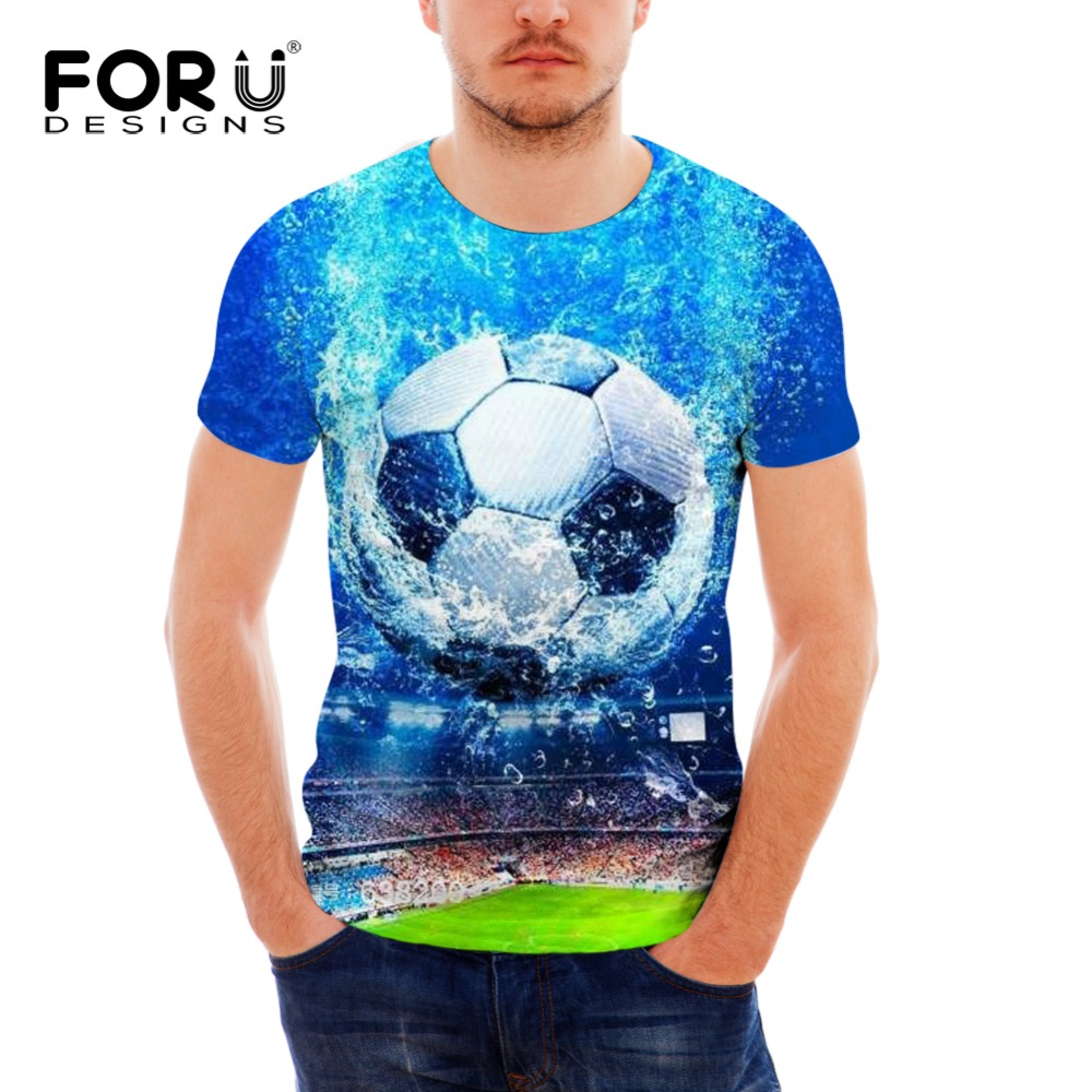 FORUDESIGNS Mens T-shirt 2018 Summer Man T Shirts Child Bodybuilding Fireball Prining Male T-shirt for Teenager Boys Tops Tees