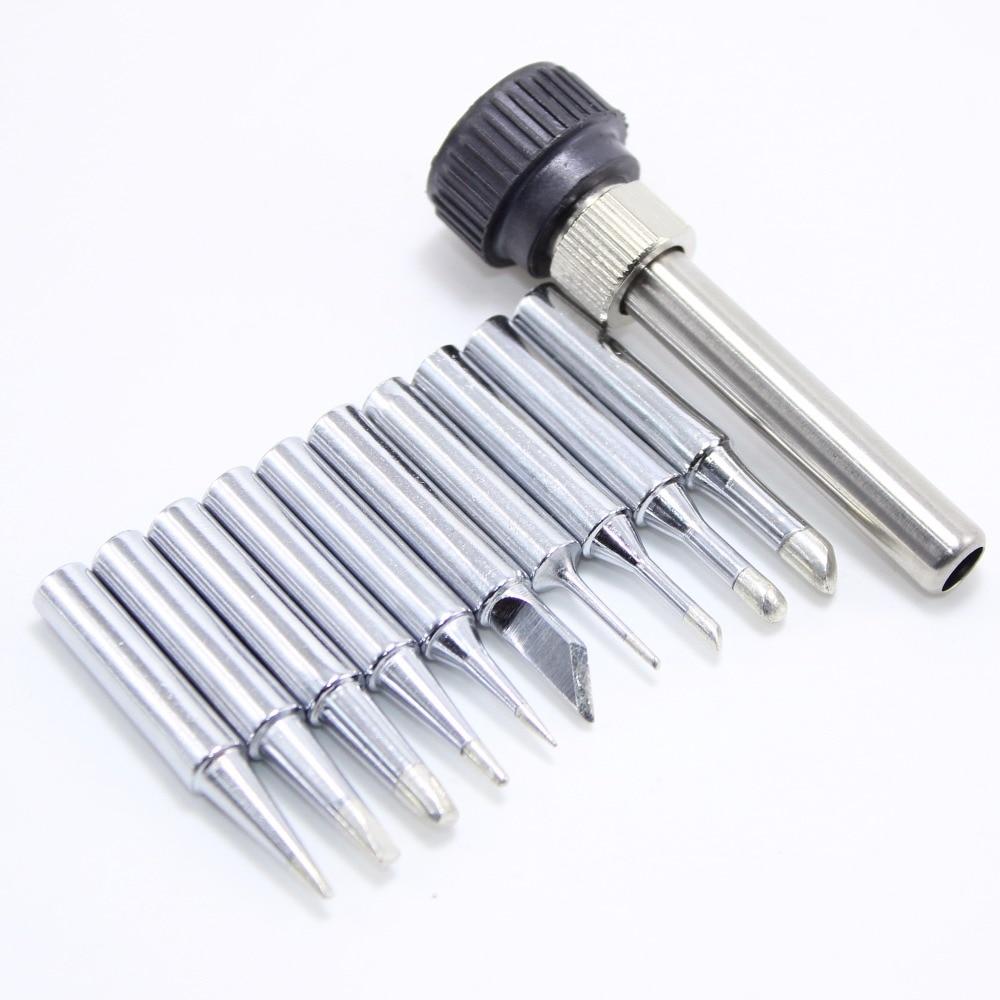 10pcs/lot Iron casing Lead-free Solder Iron Tip 900M-T For 936 SAIKE ATTEN GORDAK KADA YIHUA Soldering Rework Station Iron Tsui