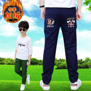 Image 4 - Boys pants teenage winter velvet warm pants kids long style solid causal trousers 3 15T baby boys outwear children clothes