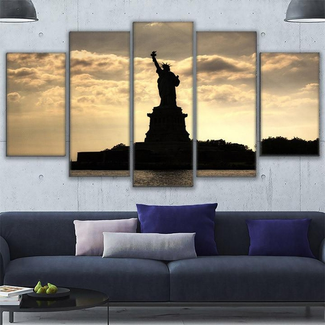 Canvas Paintings Wall Art Frames Pictures Room Home Decor 5 Pieces ...