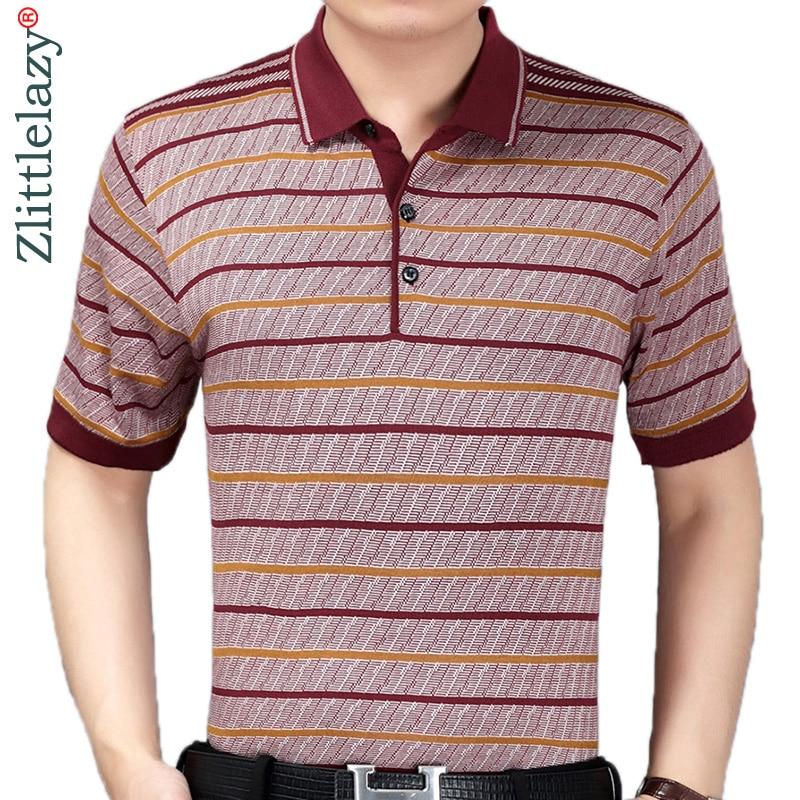 2019 summer short sleeve knitting   polo   shirt men clothes striped fashions   polos   tee shirts pol cool mens clothing poloshirt 370
