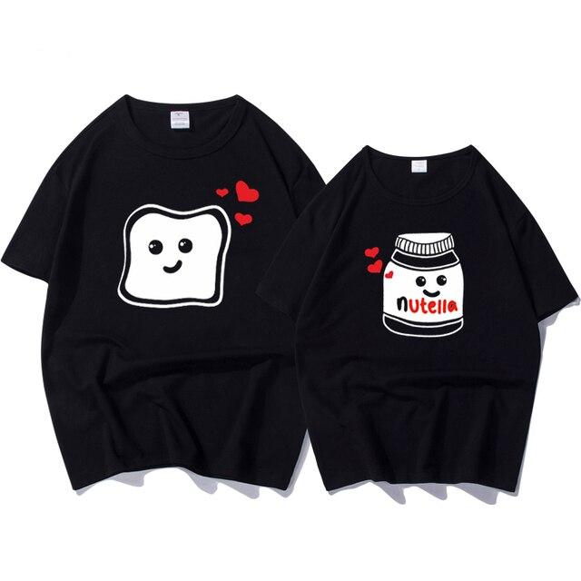 867d4ddfedfcf Funny New Couple Clothes Summer Cool Women T-shirt Cotton Print Nutella T  Shirt Women
