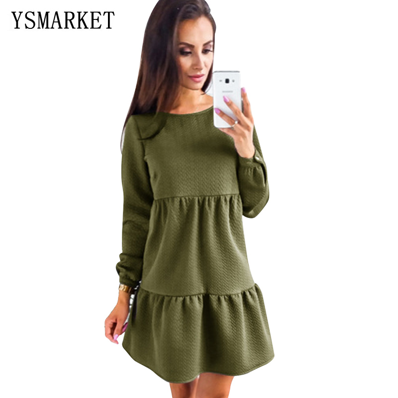 YSMARKET New Arrive Women Dress Autumn And Winter Fashion