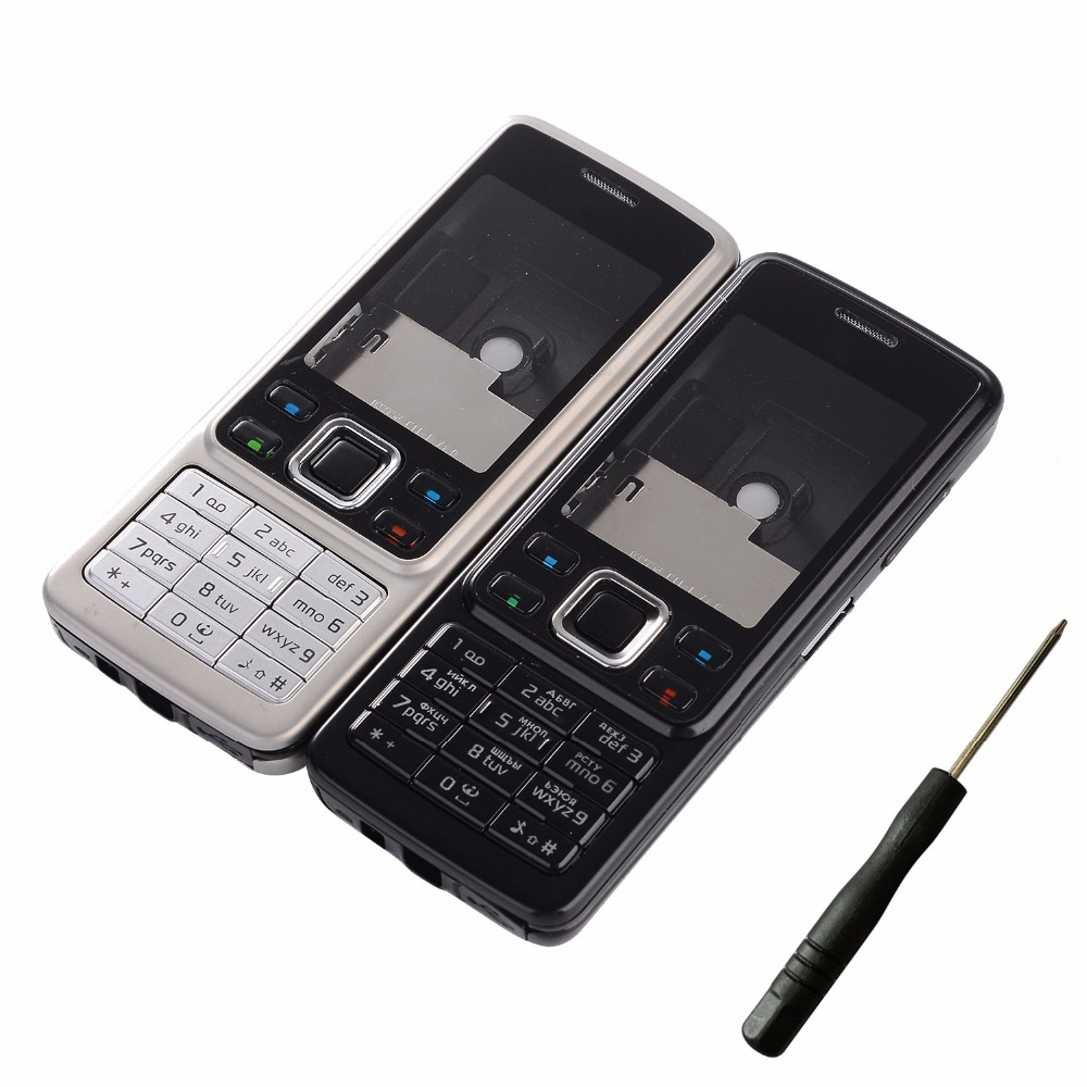 For Nokia 6300 Phone Housing Cover Front Frame+Battery Door Cover+English And Russian Keypads+Tools
