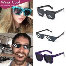 Wear Cool New Vintage Eyeglasses Mosaic Eyewear Thug Life Deal With It Sunglasses Women Man Glasses 8 Bits Style