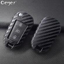 Ceyes Auto Styling Silikon Schlüssel 3 Remote Abdeckung Fob Fall Für Peugeot 3008 208 308 508 408 2008 307 4008 für Citroen C4 Zubehör