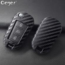 Ceyes Car Styling Chiave Del Silicone 3 Copertura A Distanza Caso Fob Per Peugeot 3008 208 308 508 408 2008 307 4008 per Citroen C4 Accessori