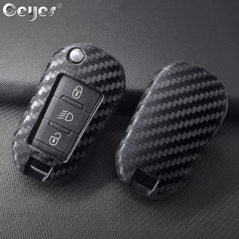 Ceyes Car Styling Silicone Key 3 Remote Cover Fob Case For Peugeot 3008 208 308 508 408 2008 307 4008 For Citroen C4 Accessories