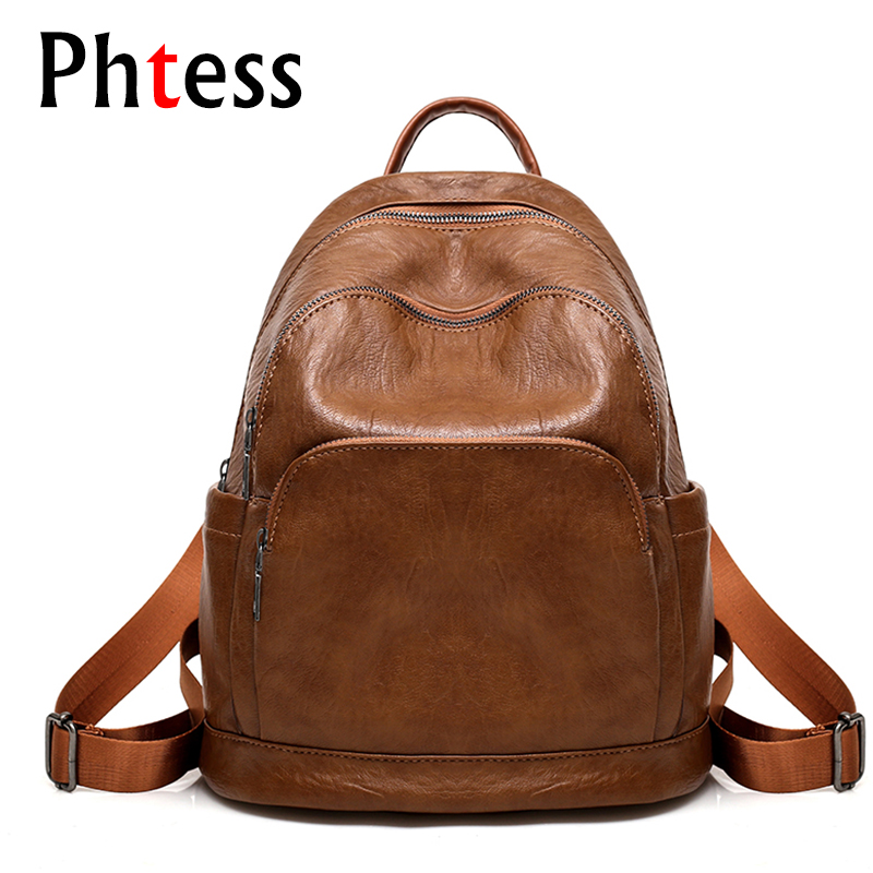 2018 New Women Backpacks Leather Travel Bagpack Casual Ladies School Bags For Teenagers Girls Daily Backpacks Rucksack Mochilas women s mint green oxford backpacks ladies travel bags female casual backpacks new school bags for students top handle bags e149