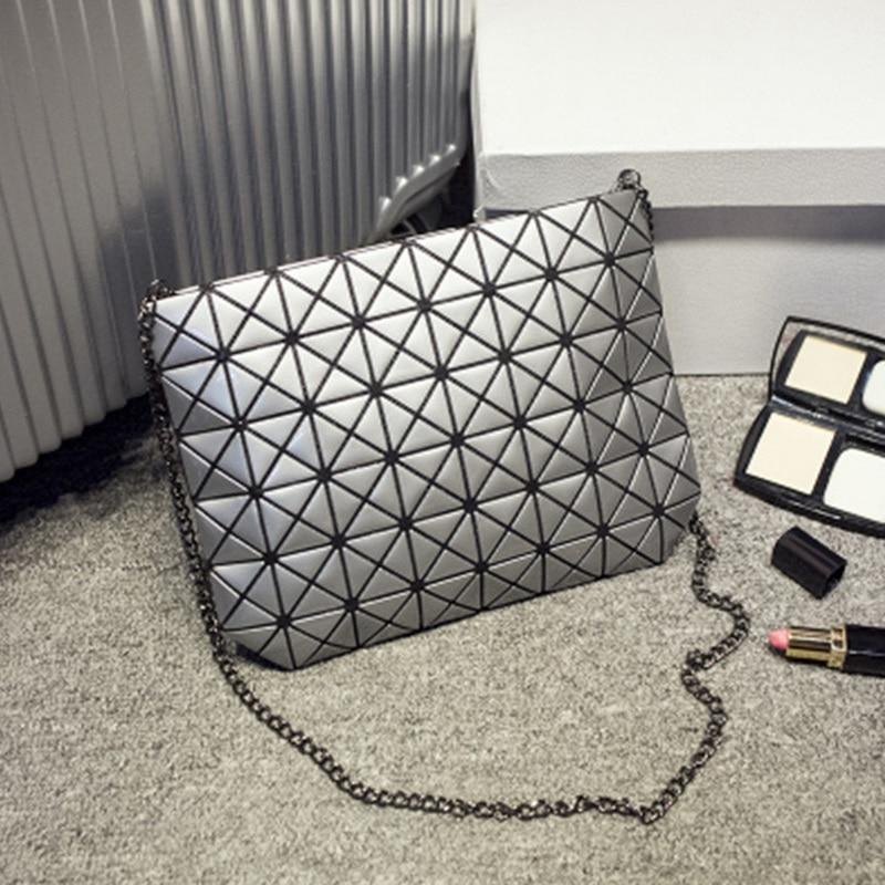 Japanese Famous Brands Women Fashion BaoBao Bag Geometric Splicing Bag Shoulder Bags Plaid Laser Shopping Bag Handbag Tote Purse