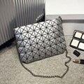 Japanese Marcas Famosas Mulheres Moda BaoBao Saco Saco Sacos de Ombro da Manta Geométrica Emenda Laser Shopping Bag Bolsa Tote Bolsa