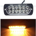 Automóviles 12 V Side Car Light 12 LED de Advertencia de Luz Doble fila de Luces Estroboscópicas de Alta Potencia DRL barra de Luces Estroboscópicas Intermitente Dash luces