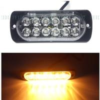 Automóviles 12 V Side Car Light 12 LED de Advertencia de Luz Doble fila de Luces Estroboscópicas de Alta Potencia DRL barra de Luces Estroboscópicas Intermitente Dash luces