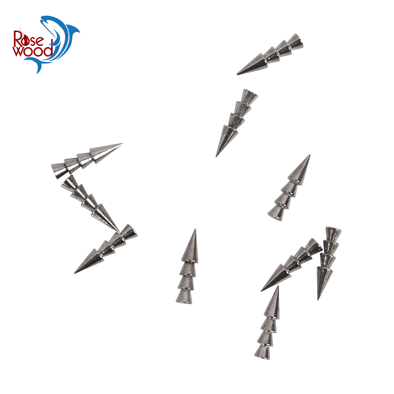 US $3 3 34% OFF|ROSEWOOD 100% Tungsten Weights Sinkers Fishing Tackle  Pagoda Wacky Nail Sinkers Pencil Soft Worm Insert Fishing Weights Molds-in