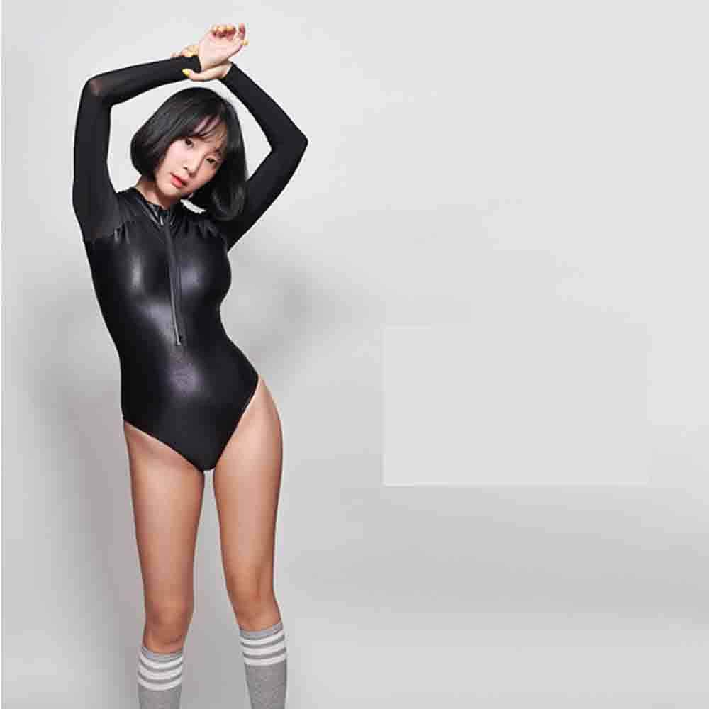 LEOHEX 2019 Sexy One Piece Swimsuit Back zipper Swimwear Bodysuit High Cut One Piece Swimwear Women Swimsuits Japanese Bathing
