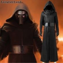 Star Wars The Force Awakens Kylo Ren Cosplay Costume Carnival Halloween Costumes Kylo Ren Cosplay battle suit custom made