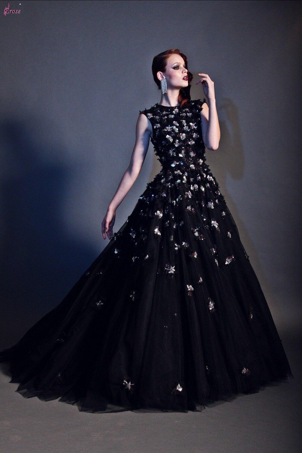 Черные бальные платья фото