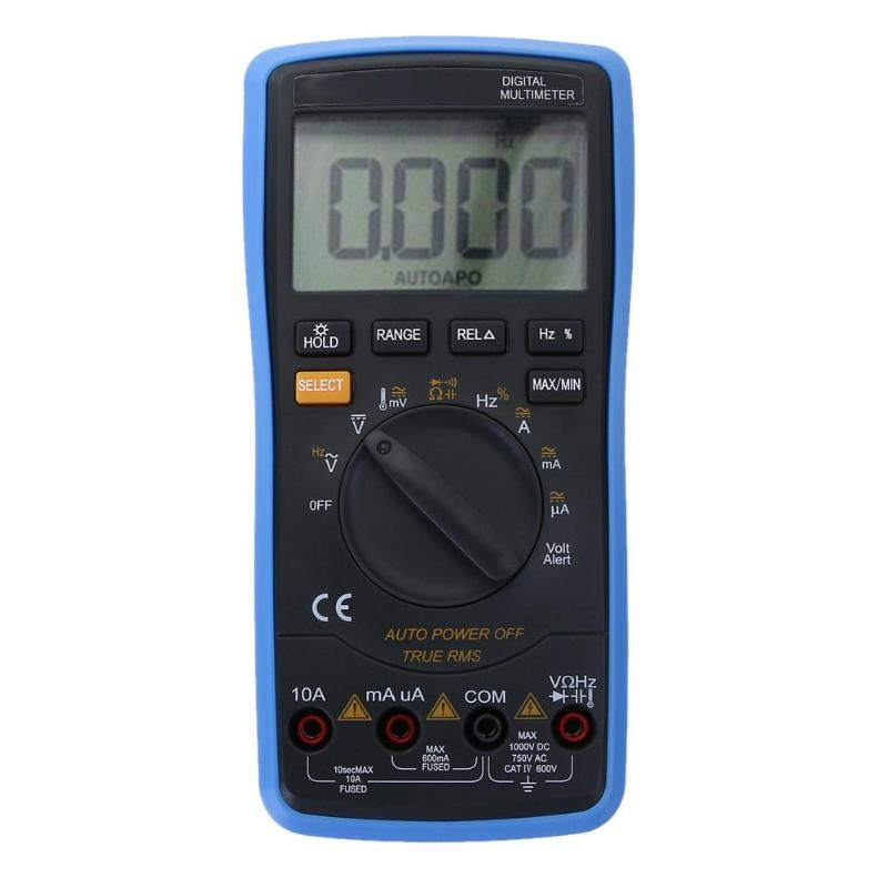 Univesal Digital Auto LCD Multimeter Backlight AC/DC Ohm Voltage Ammeter Tester Frequency Capacitor Tester цены