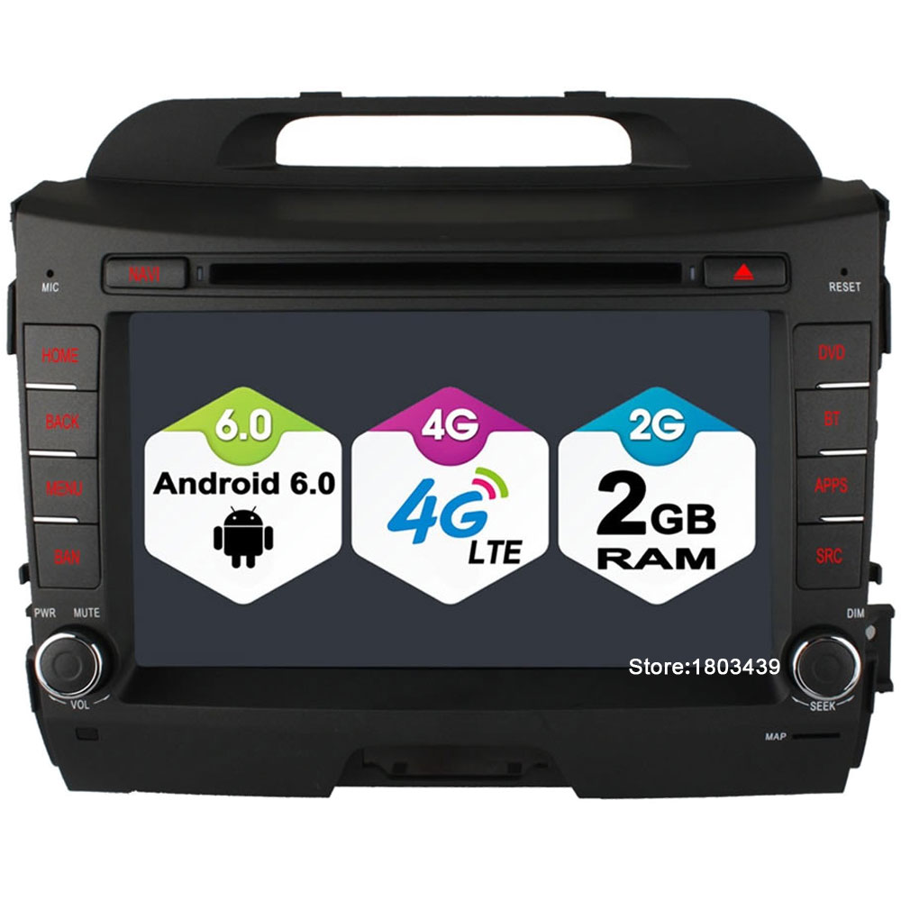 8 4 ядра 2 ГБ Оперативная память 4 г LTE SIM WI-FI Android 6.0 DVD мультимедиа плеер Радио для Kia sportage R 2010-2015 dab + Зеркало Ссылка FM