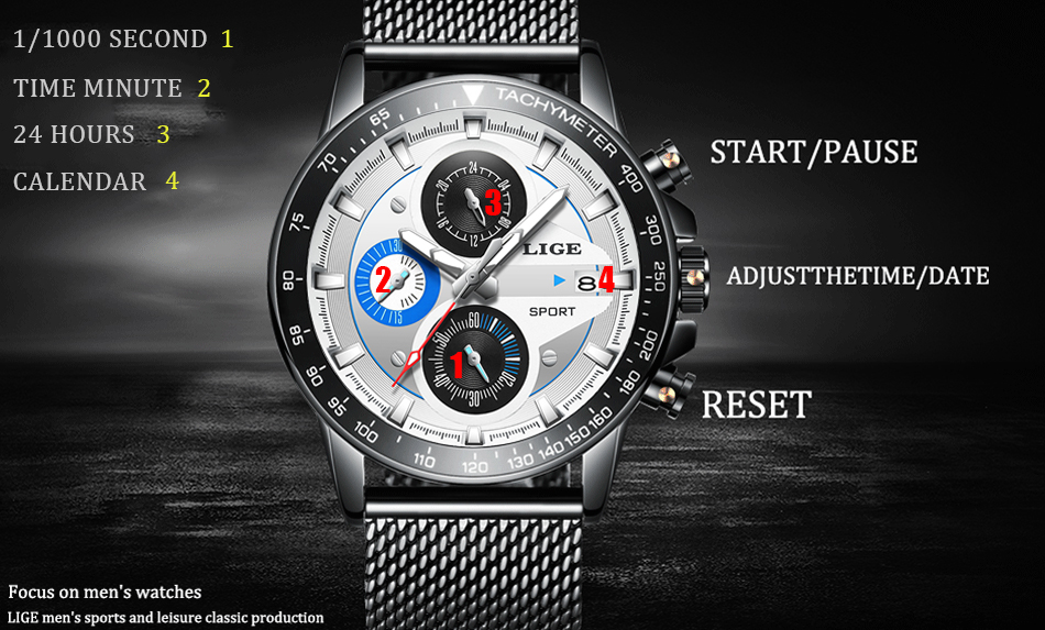 HTB1nuFEQAzoK1RjSZFlq6yi4VXaz LIGE Fashion Men Watches Male Creative Business Chronograph Quartz Clock Stainless Steel Waterproof Watch Men Relogio Masculino