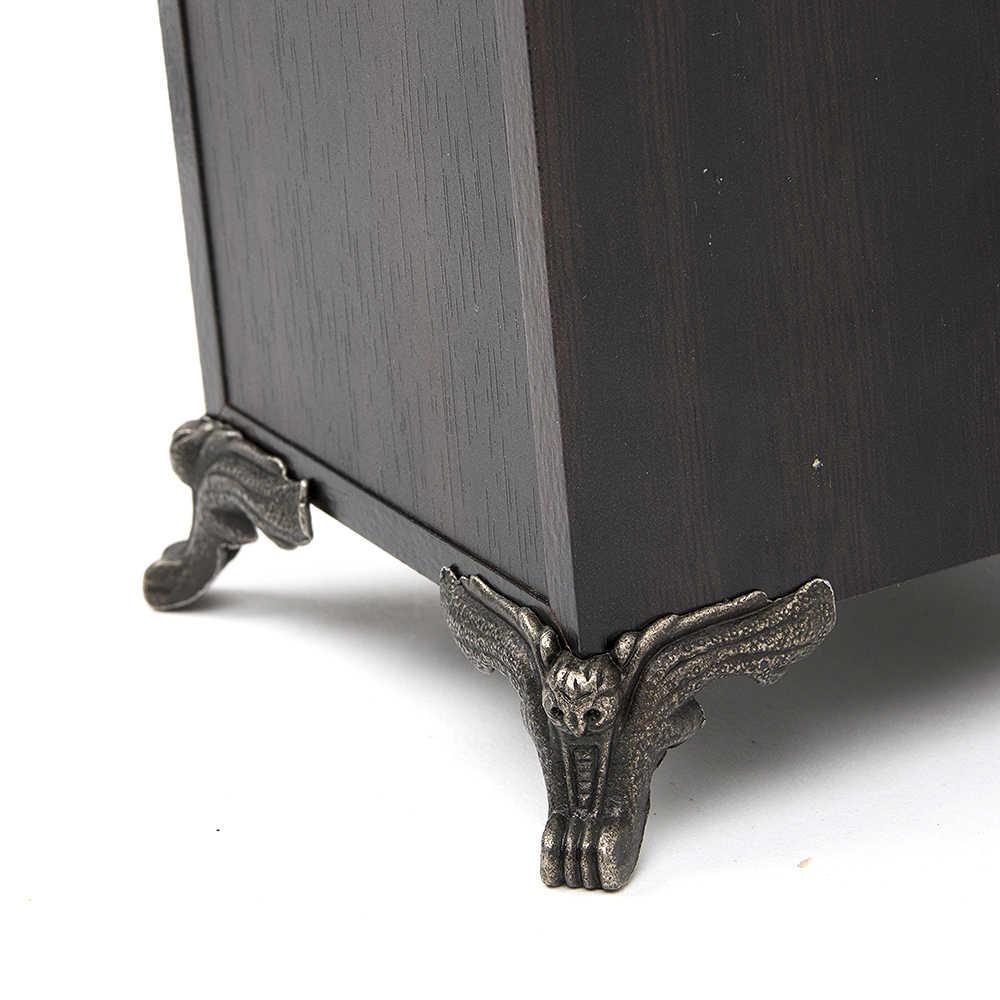 12pcs/set Fittings Furniture Vintage Drawer Wood Box Owl Pattern Corner Protector Decorative Feet Leg Decorative corners