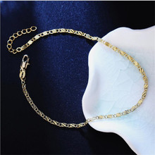 LUKENI Charm Women Gold Chain Bracelets Jewelry Fashion 925 Sterling Silver Anklets For Girl Bride Party Accessories Lovers Gift