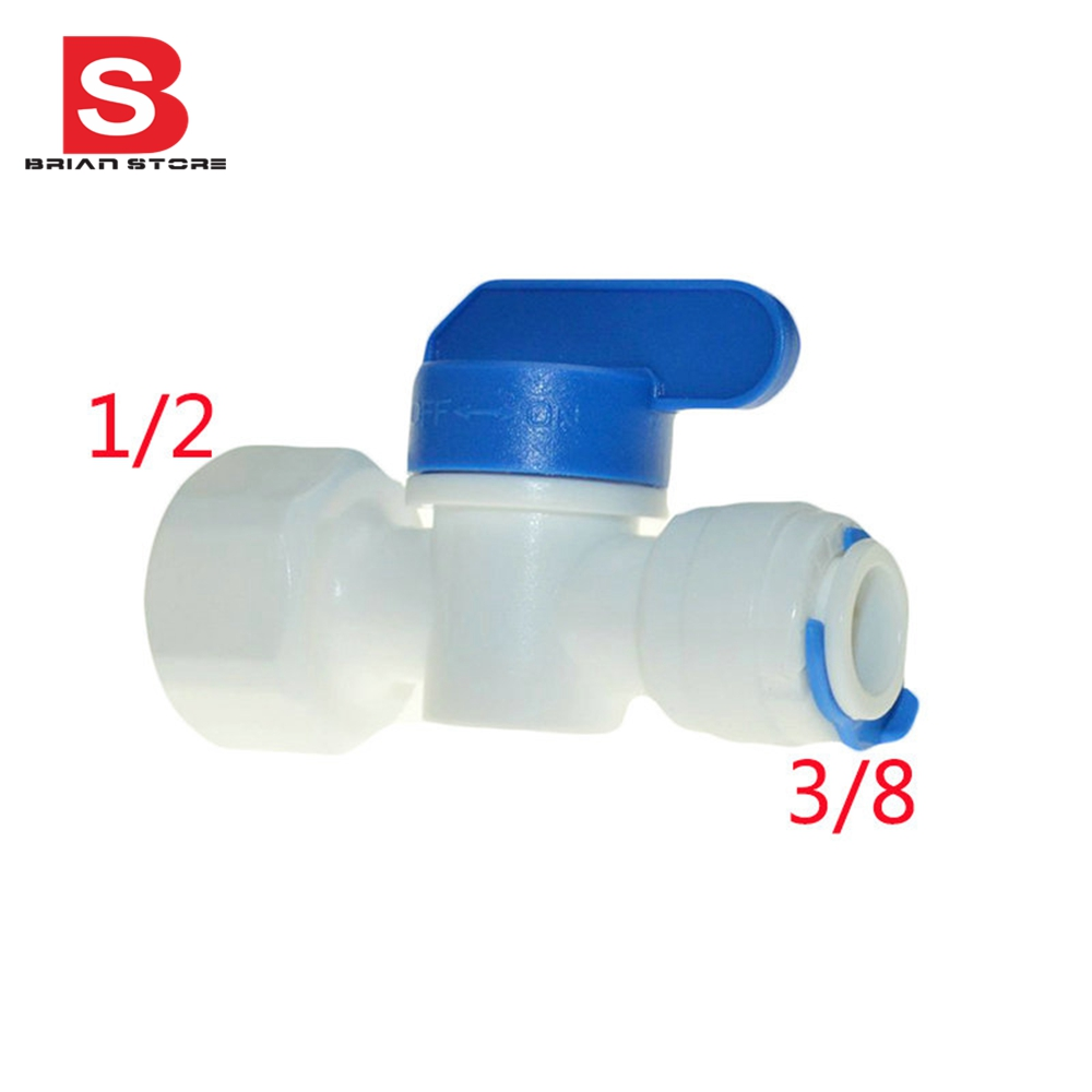 1/2 Female-3/8 1/4 Tube Ball Valve Swicth Quick Connection RO Water Aquarium Osmosis System ST012 A ST012B