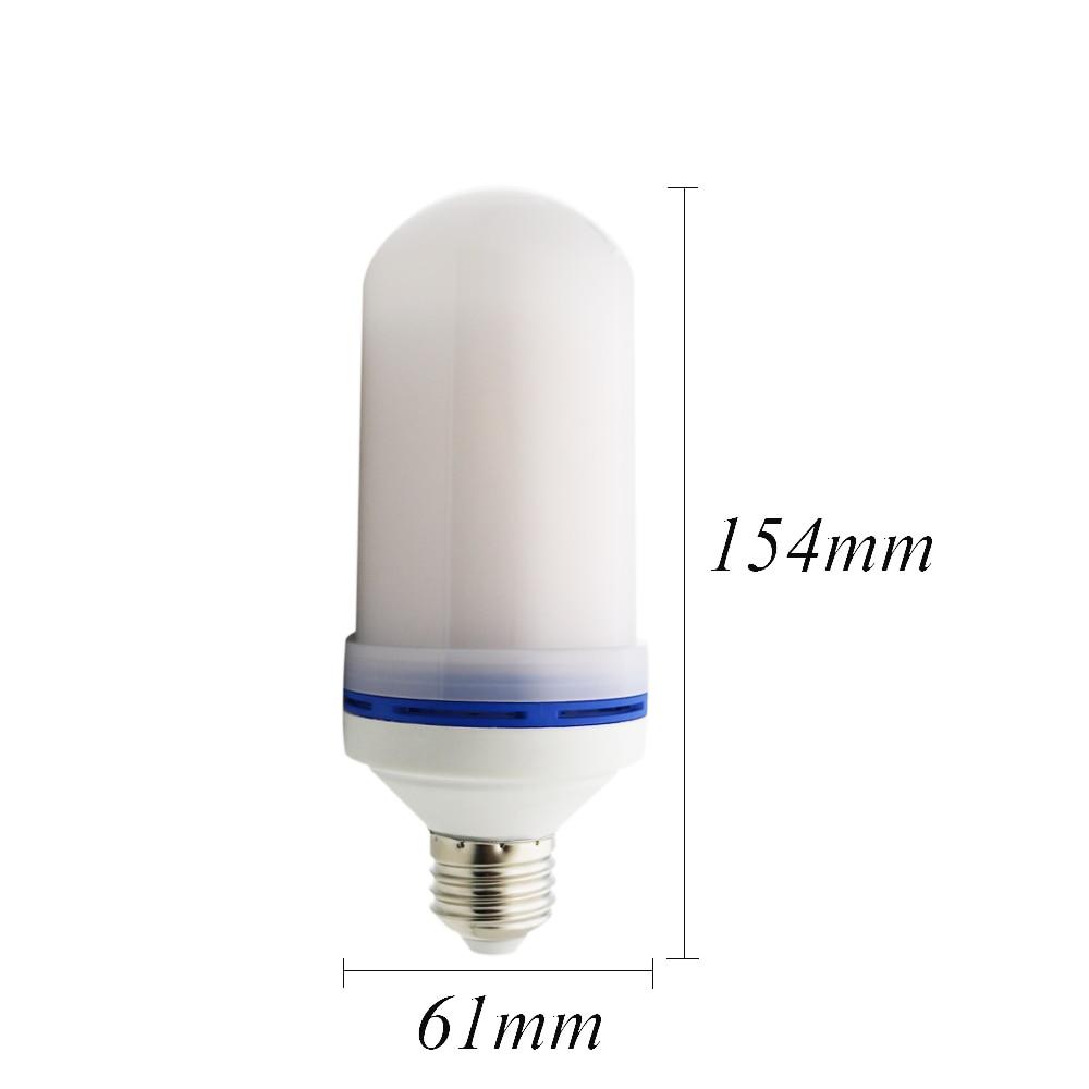20x2017 novo e27 e26 2835smd conduziu a lâmpada efeito de chama lâmpadas de fogo 10 w luzes de chama de emulação de cintilação 1900 k 2200 k AC85 265V - 2