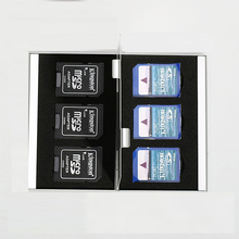 Wallet Storage-Box-Bag Memory-Card-Case-Holder 6--Sd-Card Aluminum for 6-In-1 Large-Capacity