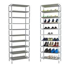 10 Tiers Shoes Racks Shelf Storage Home Closet Stand Organizer Dormitory Sturdy Easy Assembled Office Footwear Support Shoebox(China)