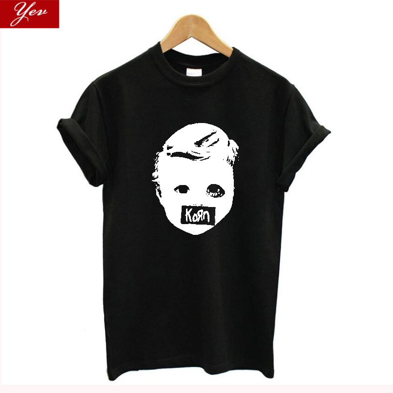 2019 New Metal Band KORN T Shirt Women Cotton Plus Size Casual Summer Tshirt Women, Vintage Streetwear Tee Shirt Femme Harajuku