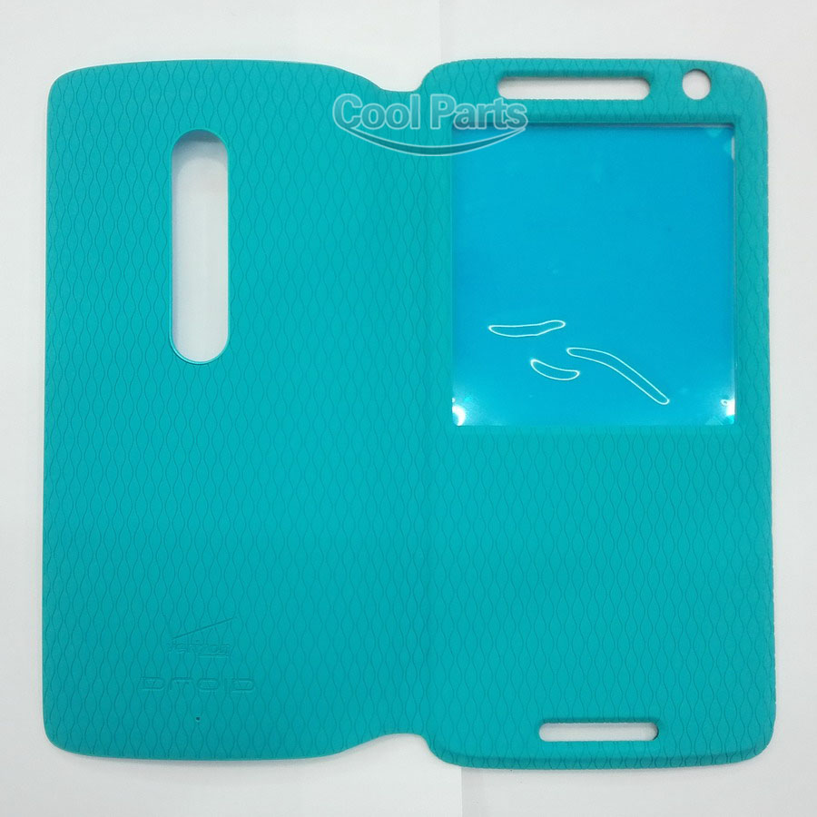 You Kit Original New Flip Open View Window Leather Protector Case With Rear Battery Back Cover