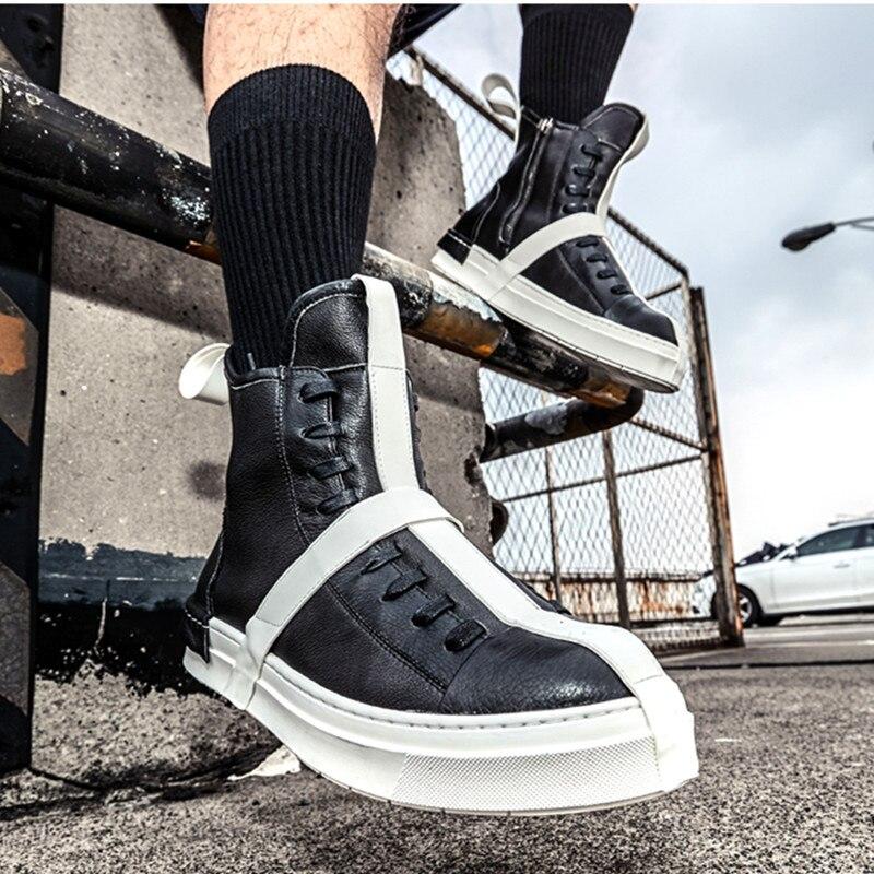 Flats Top Sport Black Street Shoes Platform 0 Style Us108 Hop high Canvas Fashion 20Off Men In Hip White Sneakers Blue 8OyvmPNn0w