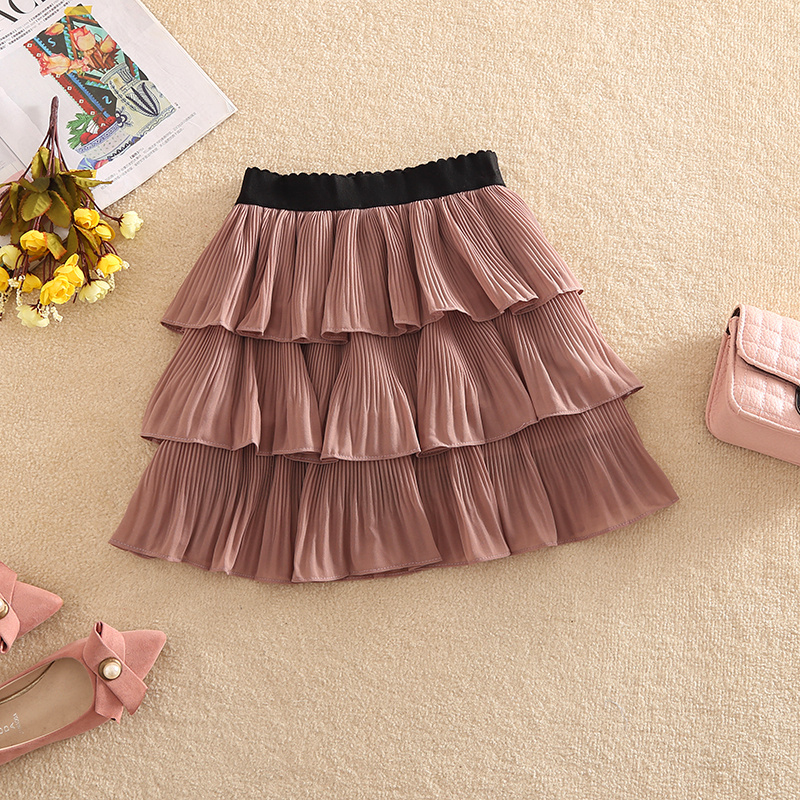 NiceMix 2019 Spring Autumn Skirts New Sweet Fresh Solid Color Cascading Ruffles Mesh High Waist Pleated Mini Cake Women Skirts