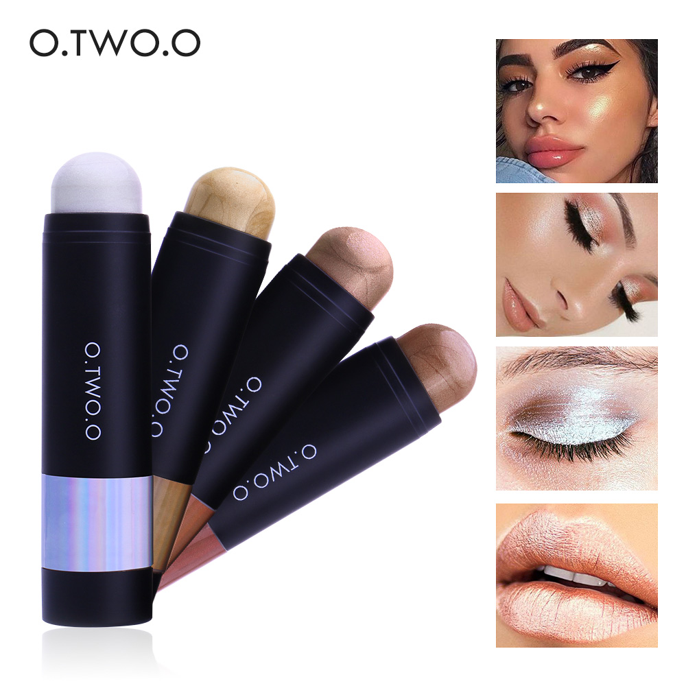 4 Colors Highlighter Stick High Pigment Face Brighten ...
